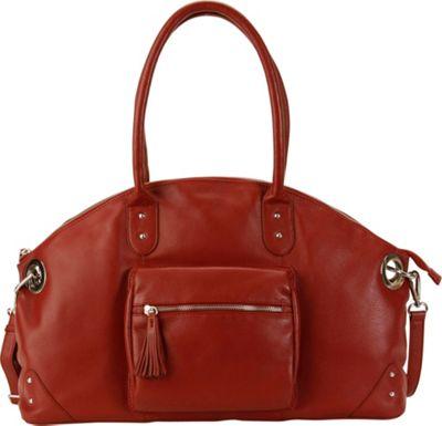 Hadaki Satchel Deep Red - Hadaki Leather Handbags