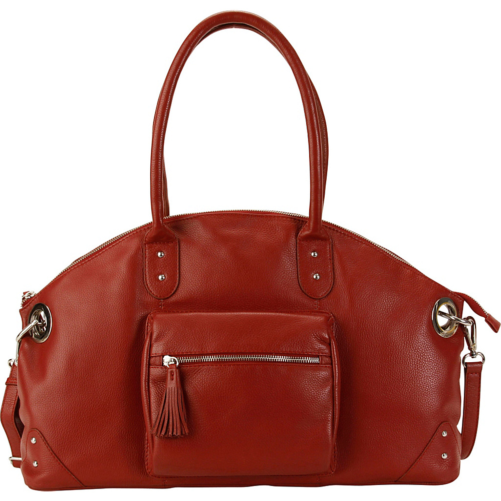 Hadaki Satchel Deep Red - Hadaki Leather Handbags - Handbags, Leather Handbags