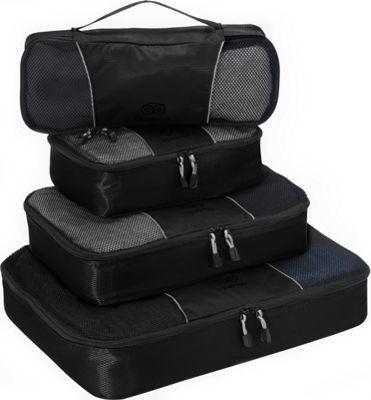 TripAdvisor 4pc Packing Cube Set Black - TripAdvisor Travel Organizers