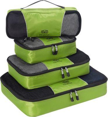 TripAdvisor 4pc Packing Cube Set Green - TripAdvisor Travel Organizers