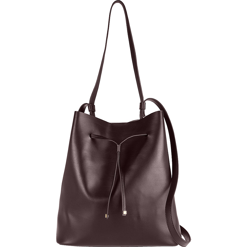 Lodis Blair Halina Large Drawstring Lava/Taupe - Lodis Leather Handbags - Handbags, Leather Handbags