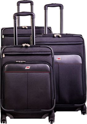Andare Milan 8 Wheel Spinner Upright 3-Piece Luggage Set Black - Andare Luggage Sets