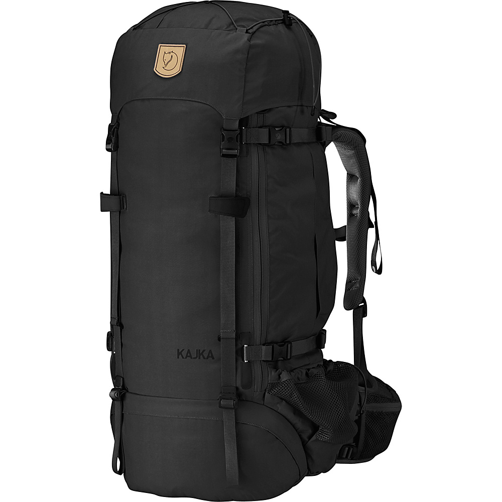 Fjallraven Kajka Backpack 75 Black - Fjallraven Day Hiking Backpacks - Outdoor, Day Hiking Backpacks