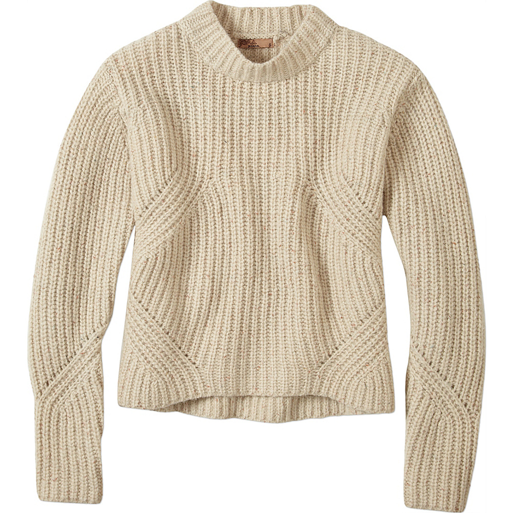 PrAna Cedric Sweater L - Stone - PrAna Womens Apparel - Apparel & Footwear, Women's Apparel