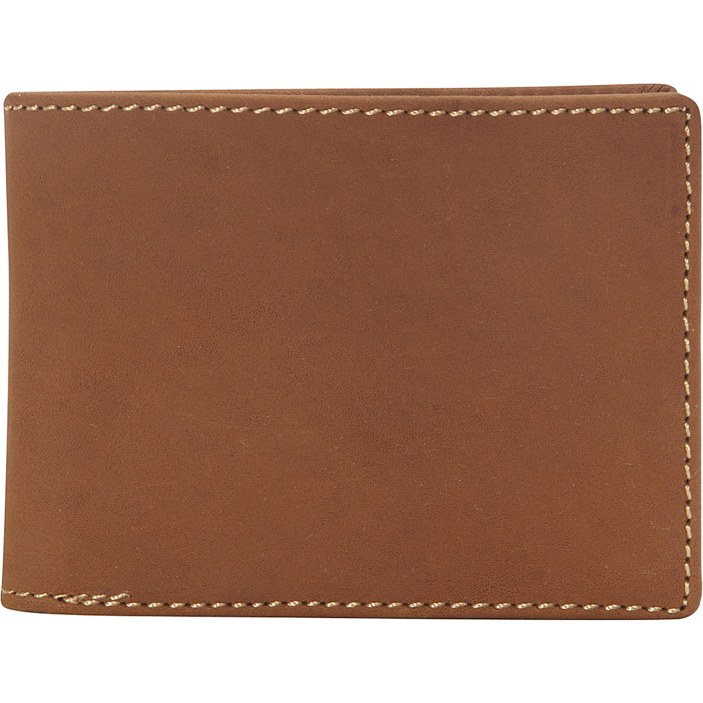 Vagabond Traveler Full Grain Leather Cowhide Classic Wallet Brown - Vagabond Traveler Mens Wallets - Work Bags & Briefcases, Men's Wallets