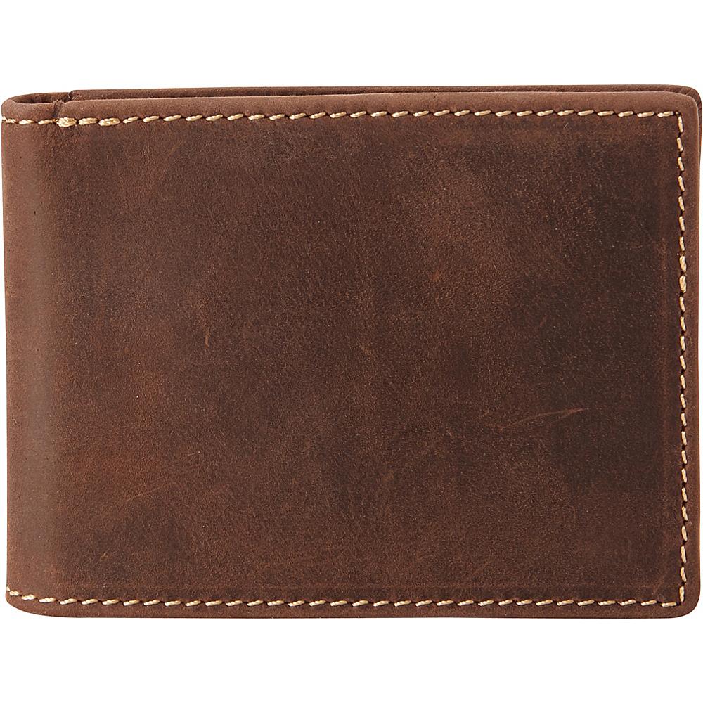 Vagabond Traveler Full Grain Leather Cowhide Classic Wallet Distress - Vagabond Traveler Mens Wallets - Work Bags & Briefcases, Men's Wallets