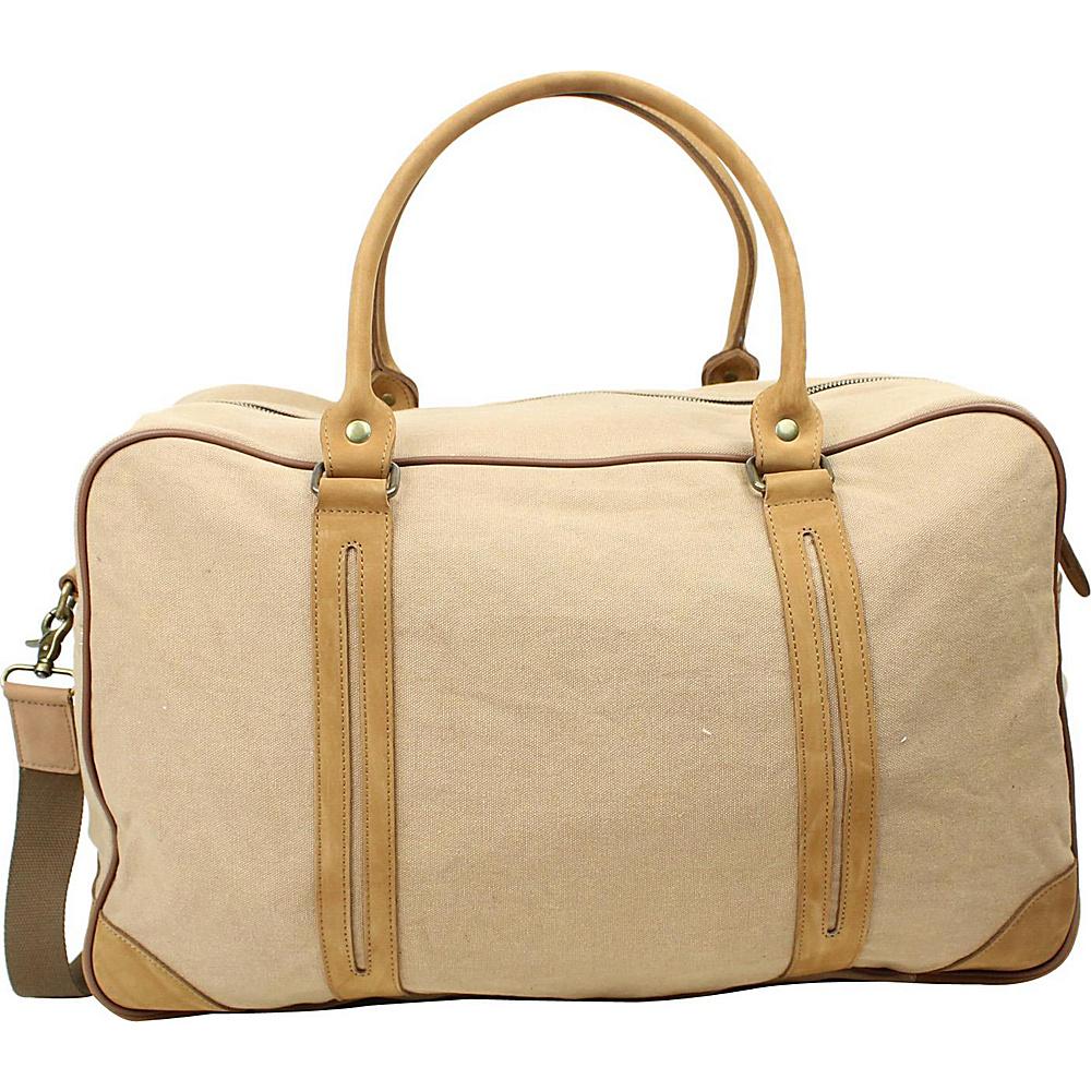 Vagabond Traveler Large Canvas Travel Duffle Bag Khaki - Vagabond Traveler Rolling Duffels - Luggage, Rolling Duffels