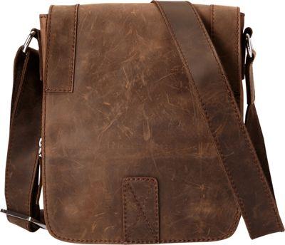 Vagabond Traveler Full Grain Leather Satchel Handbag Vintage Brown - Vagabond Traveler Other Men's Bags