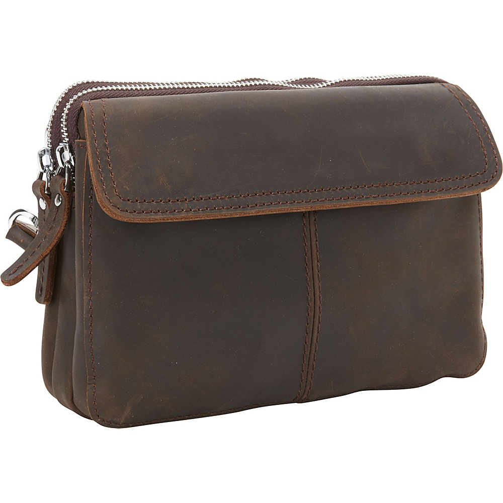 Vagabond Traveler Cowhide Leather Slim Shoulder Waist Bag Dark Brown - Vagabond Traveler Other Mens Bags - Work Bags & Briefcases, Other Men's Bags