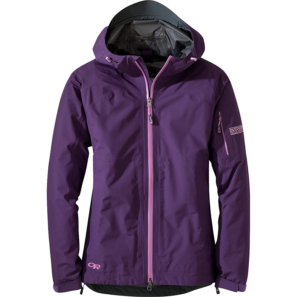 Outdoor Research Womens Aspire Jacket S - Elderberry - Outdoor Research Womens Apparel - Apparel & Footwear, Women's Apparel