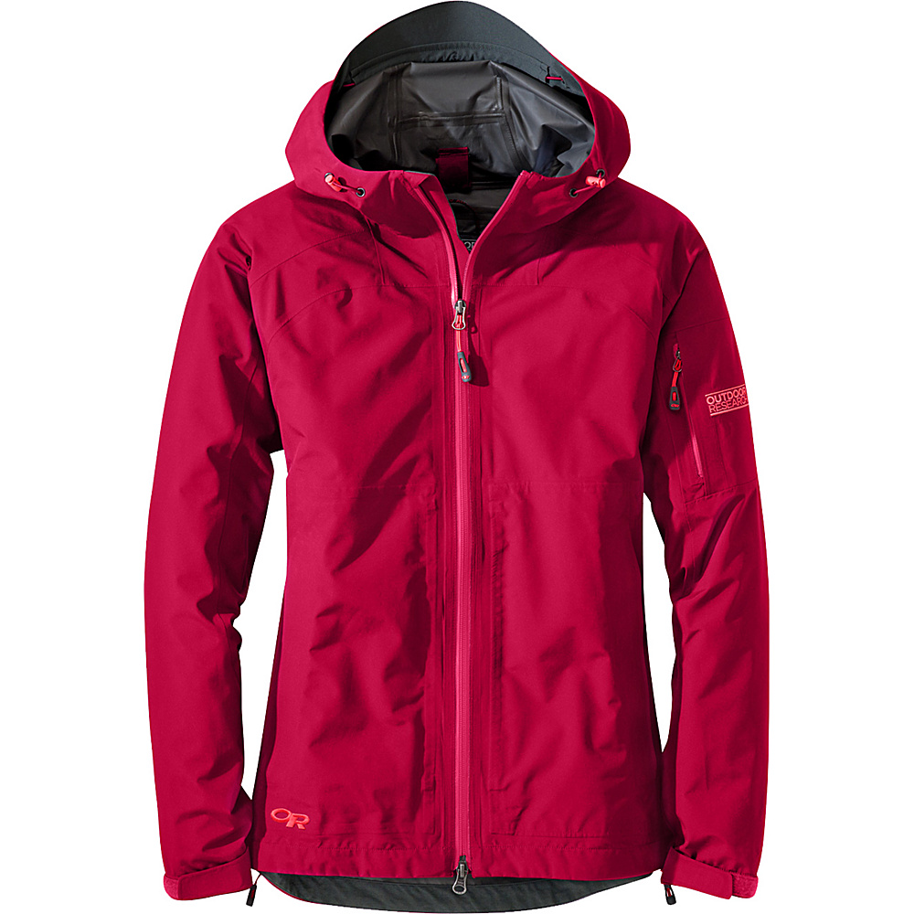 Outdoor Research Womens Aspire Jacket M - Scarlet - Outdoor Research Womens Apparel - Apparel & Footwear, Women's Apparel
