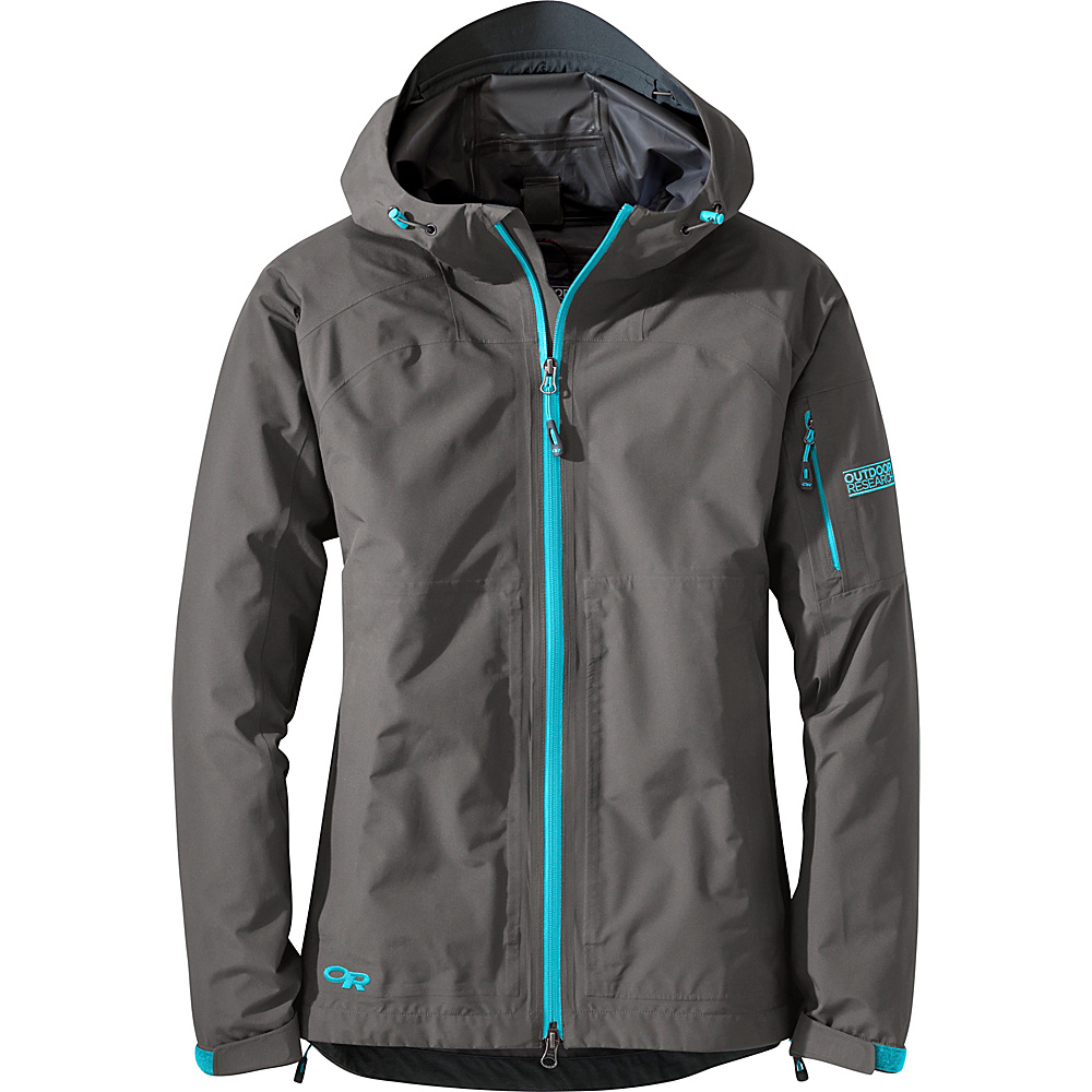 Outdoor Research Womens Aspire Jacket XL - Pewter/Typhoon - Outdoor Research Womens Apparel - Apparel & Footwear, Women's Apparel