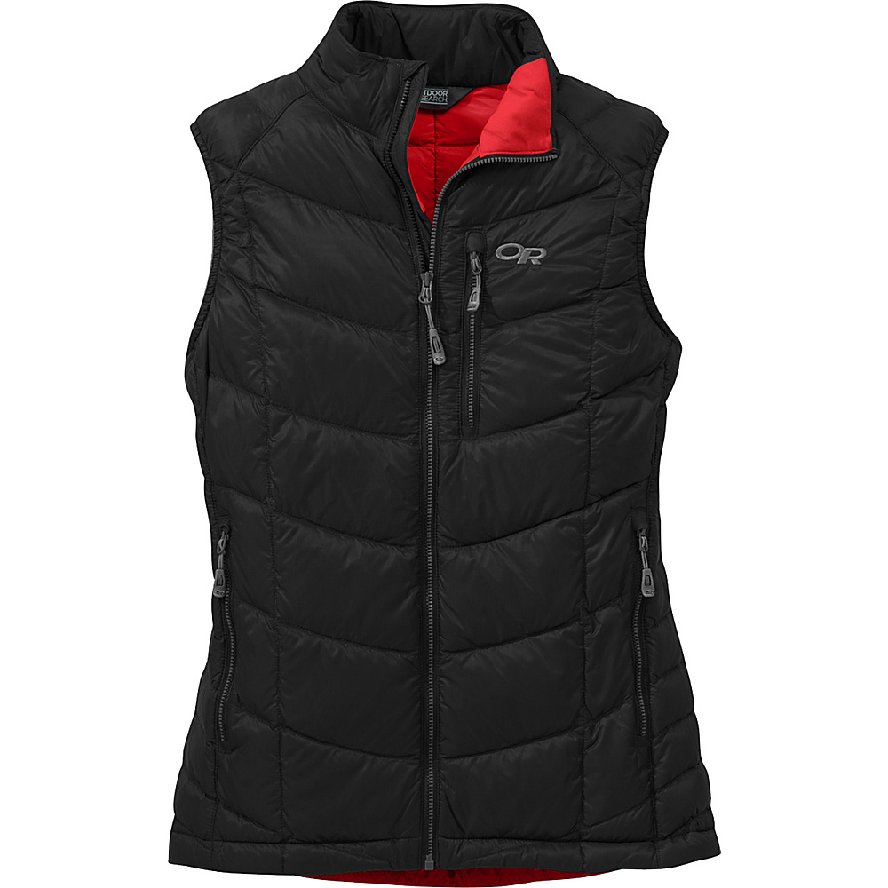 Outdoor Research Womens Sonata Vest L - Black/Flame - Outdoor Research Womens Apparel - Apparel & Footwear, Women's Apparel