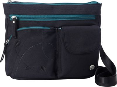 Haiku Wanderlust RFID Crossbody Black Juniper - Haiku Fabric Handbags