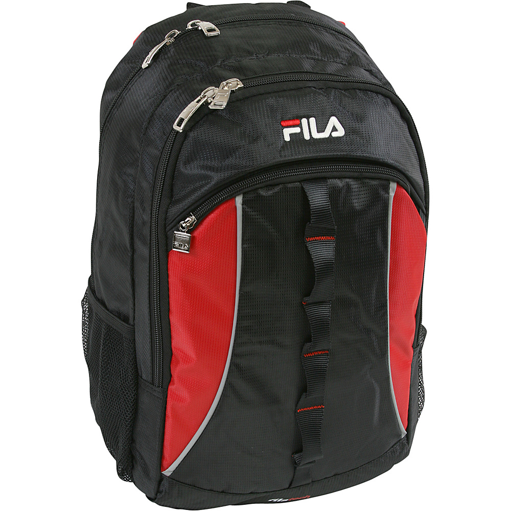 Fila Hex Tablet and Laptop Backpack Black Red Fila Business Laptop Backpacks
