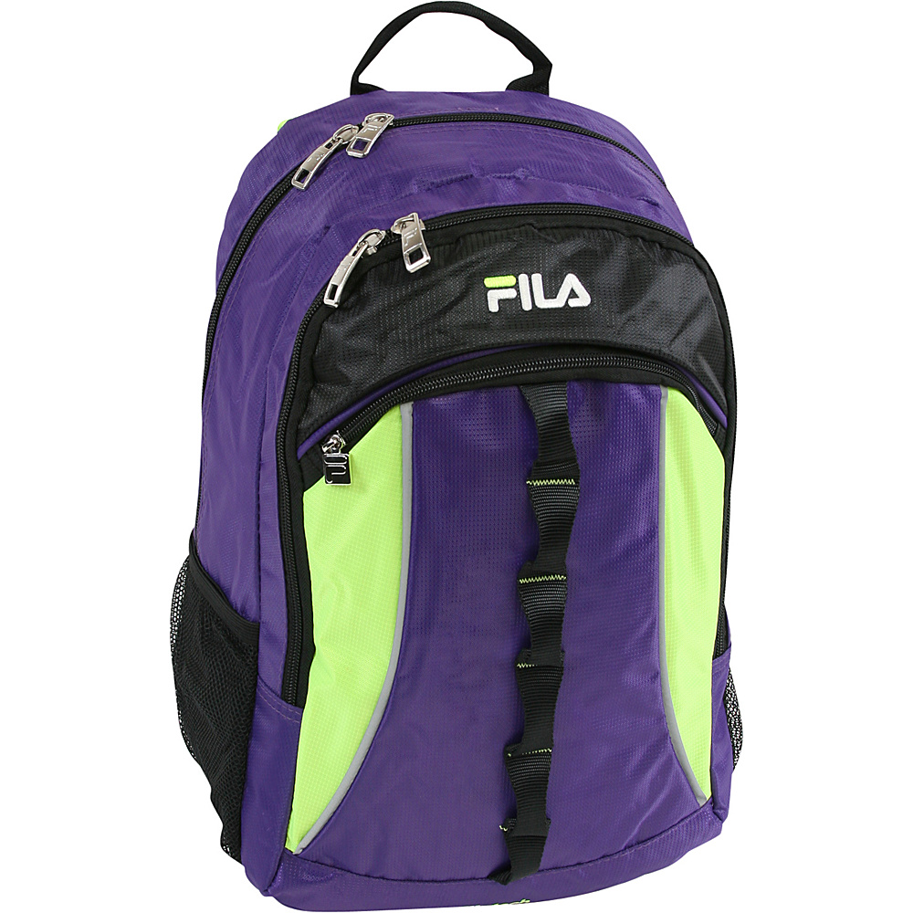 Fila Hex Tablet and Laptop Backpack Purple Neon Lime Fila Business Laptop Backpacks