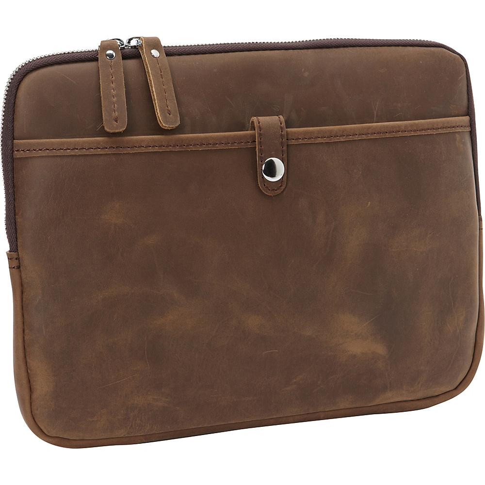 Vagabond Traveler 12-inch MacBook Pro Full Grain Cowhide Leather Sleeve with Cushion Sleeve Distress - Vagabond Traveler Electronic Cases - Technology, Electronic Cases