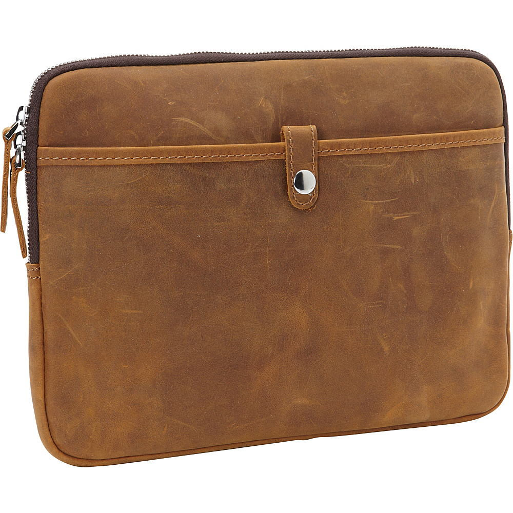 Vagabond Traveler 12-inch MacBook Pro Full Grain Cowhide Leather Sleeve with Cushion Sleeve Vintage Brown - Vagabond Traveler Electronic Cases - Technology, Electronic Cases