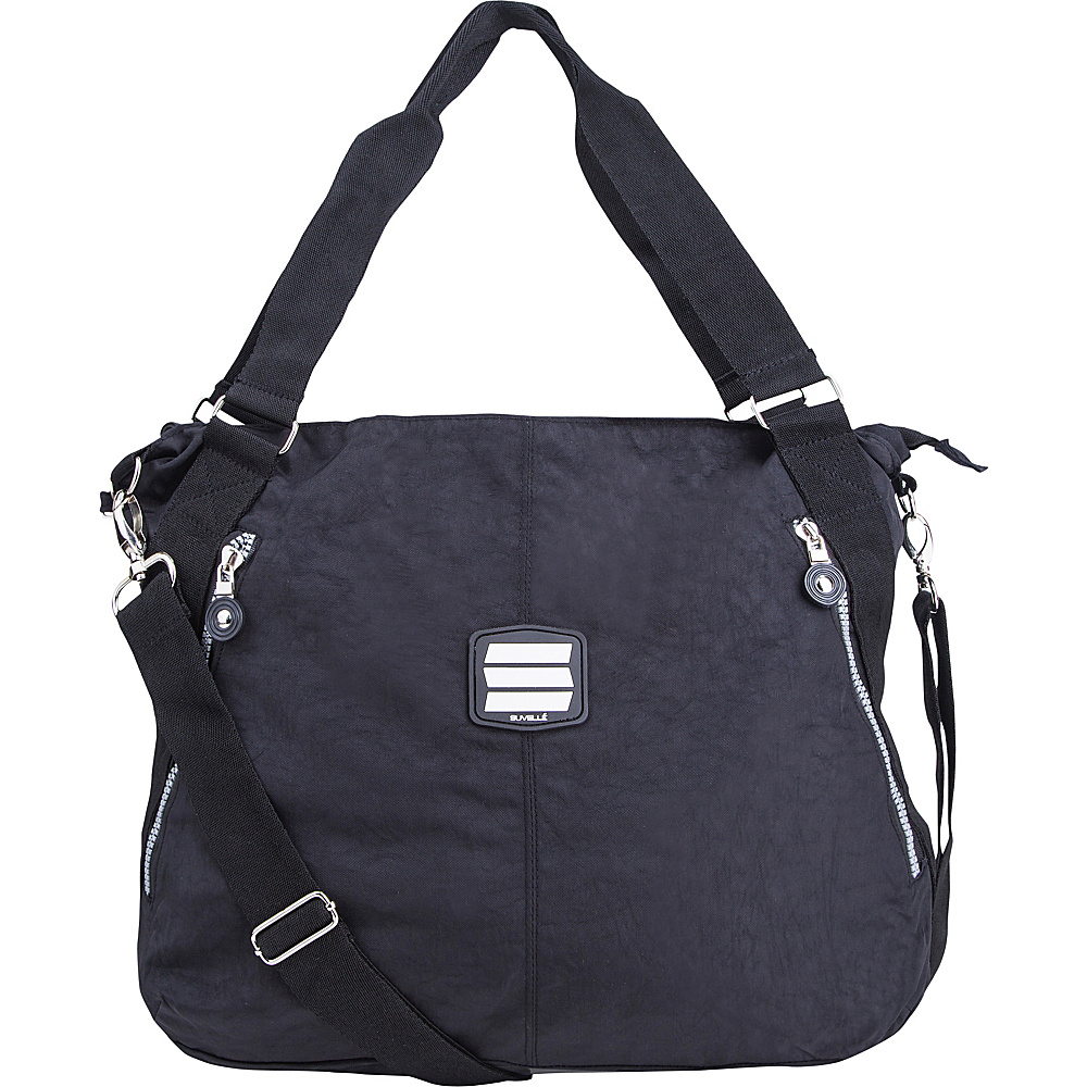 Suvelle Everyday Travel Tote Black Suvelle Fabric Handbags