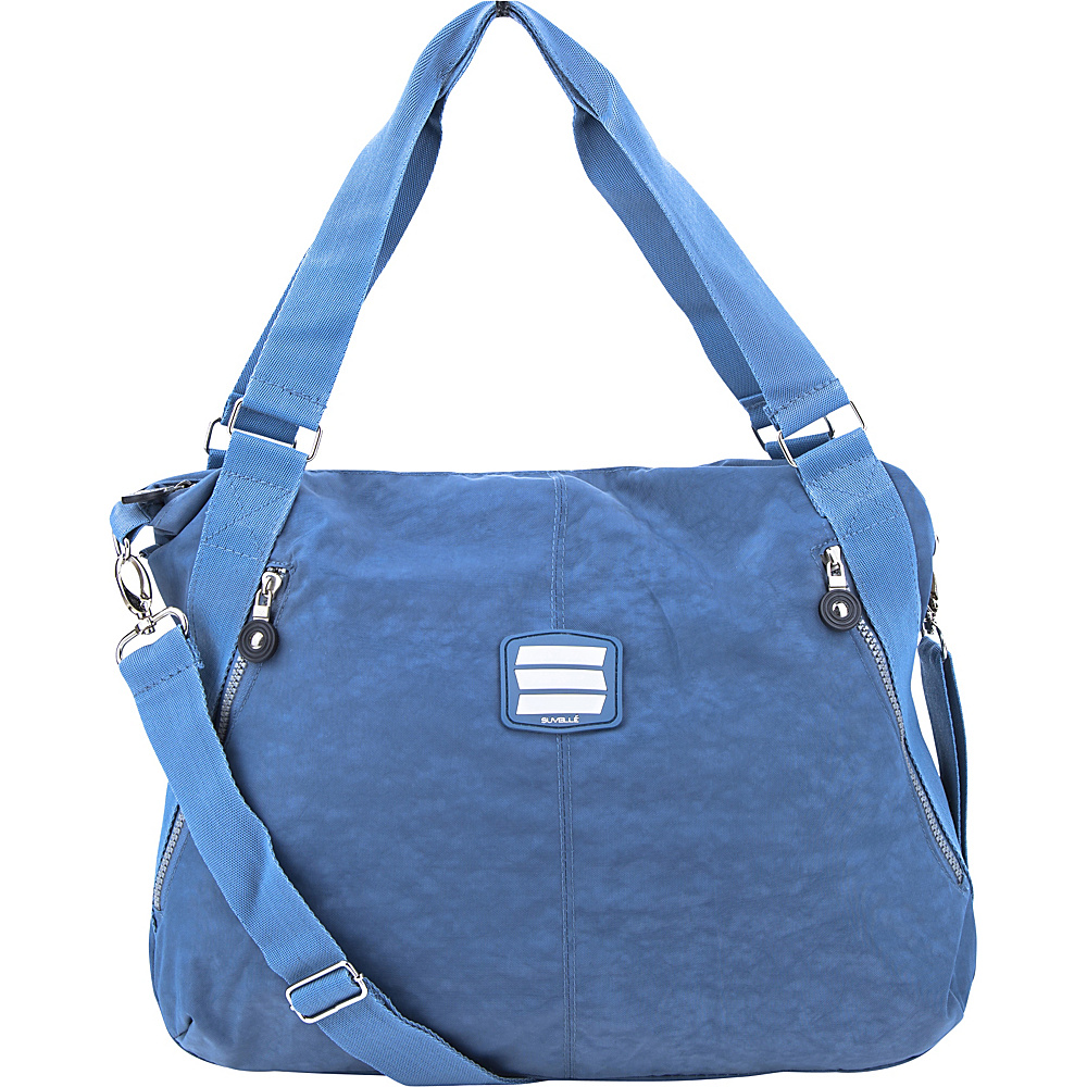 Suvelle Everyday Travel Tote Denim Blue Suvelle Fabric Handbags