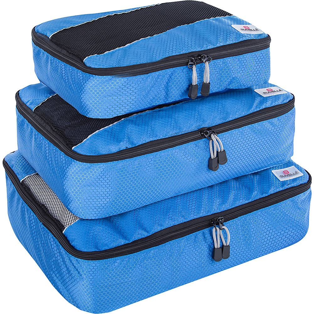 Suvelle 3 Piece Set of Luggage Organizer Packing Cubes Blue Suvelle Travel Organizers
