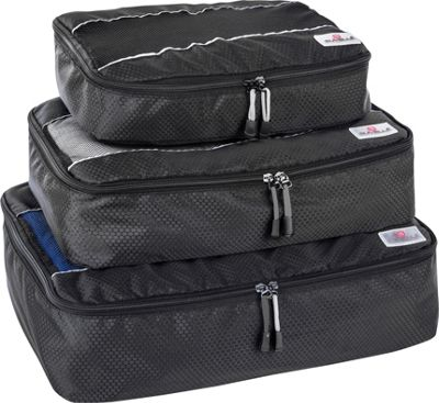 Suvelle 3-Piece Set of Luggage Organizer Packing Cubes Black - Suvelle Travel Organizers