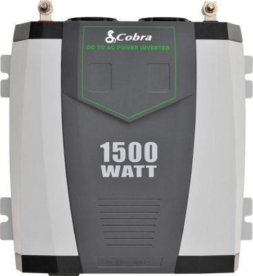 Cobra CPI 1590 Professional 1500 Watt Power Inverter Grey - Cobra Car Travel