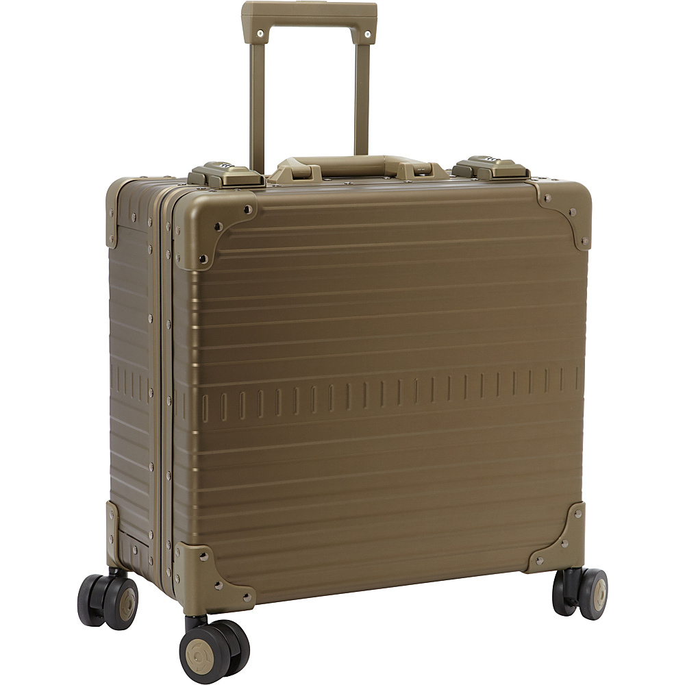 Image of Aleon 17 Deluxe Wheeled Briefcase Champagne - Aleon Wheeled Business Cases