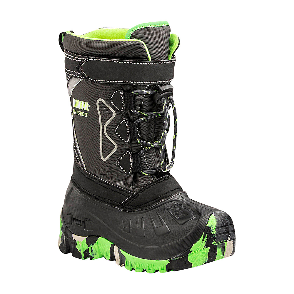Kodiak Gordy Glo Boot 12 (US Kids) - M (Regular/Medium) - Black/Green - Kodiak Womens Footwear - Apparel & Footwear, Women's Footwear