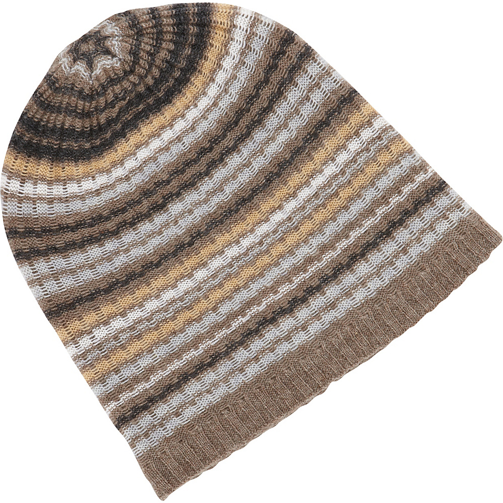 Kinross Cashmere Drop Needle Rib Stripe Hat One Size - Doeskin Multi - Kinross Cashmere Hats/Gloves/Scarves - Fashion Accessories, Hats/Gloves/Scarves