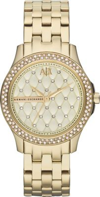 A/X Armani Exchange Smart Womens Stainless Steel Watch Gold - A/X Armani Exchange Watches