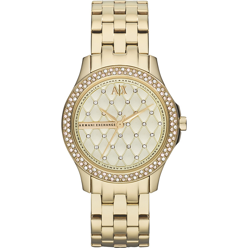 A X Armani Exchange Smart Womens Stainless Steel Watch Gold A X Armani Exchange Watches