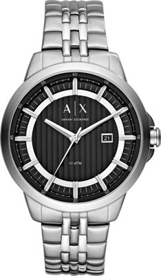 A/X Armani Exchange Smart Stainless Steel Watch Silver - A/X Armani Exchange Watches