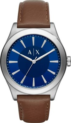 A/X Armani Exchange Smart Leather Watch Brown - A/X Armani Exchange Watches
