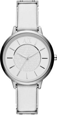 A/X Armani Exchange Womens Smart Leather Watch White