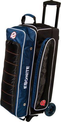 Ebonite Eclipse Triple Roller Bowling Bag Navy - Ebonite Bowling Bags