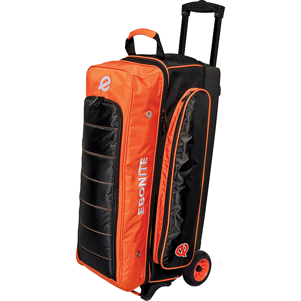 Ebonite Eclipse Triple Roller Bowling Bag Orange Ebonite Bowling Bags
