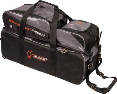 Hammer Premium Triple Bowling Tote Carbon - Hammer Bowling Bags