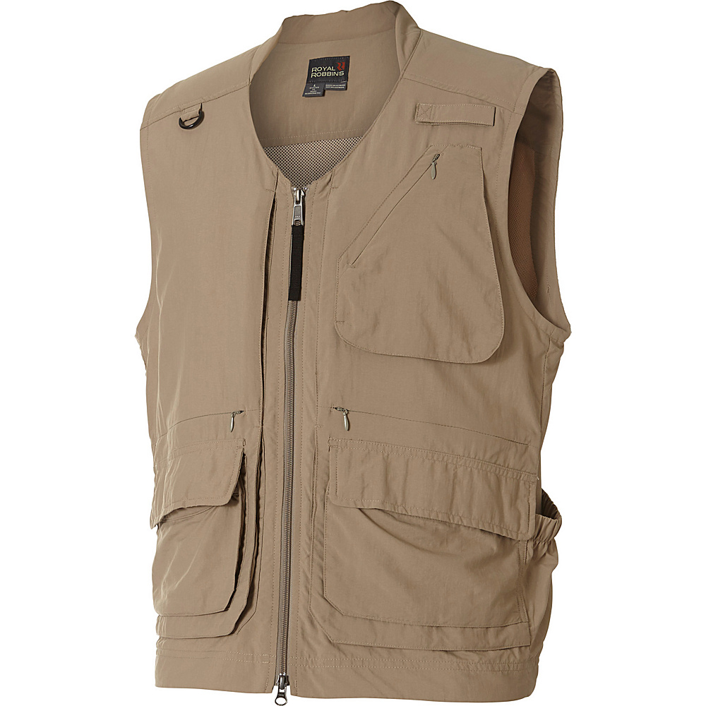 Royal Robbins Field Guide Vest S - Khaki - Royal Robbins Mens Apparel - Apparel & Footwear, Men's Apparel