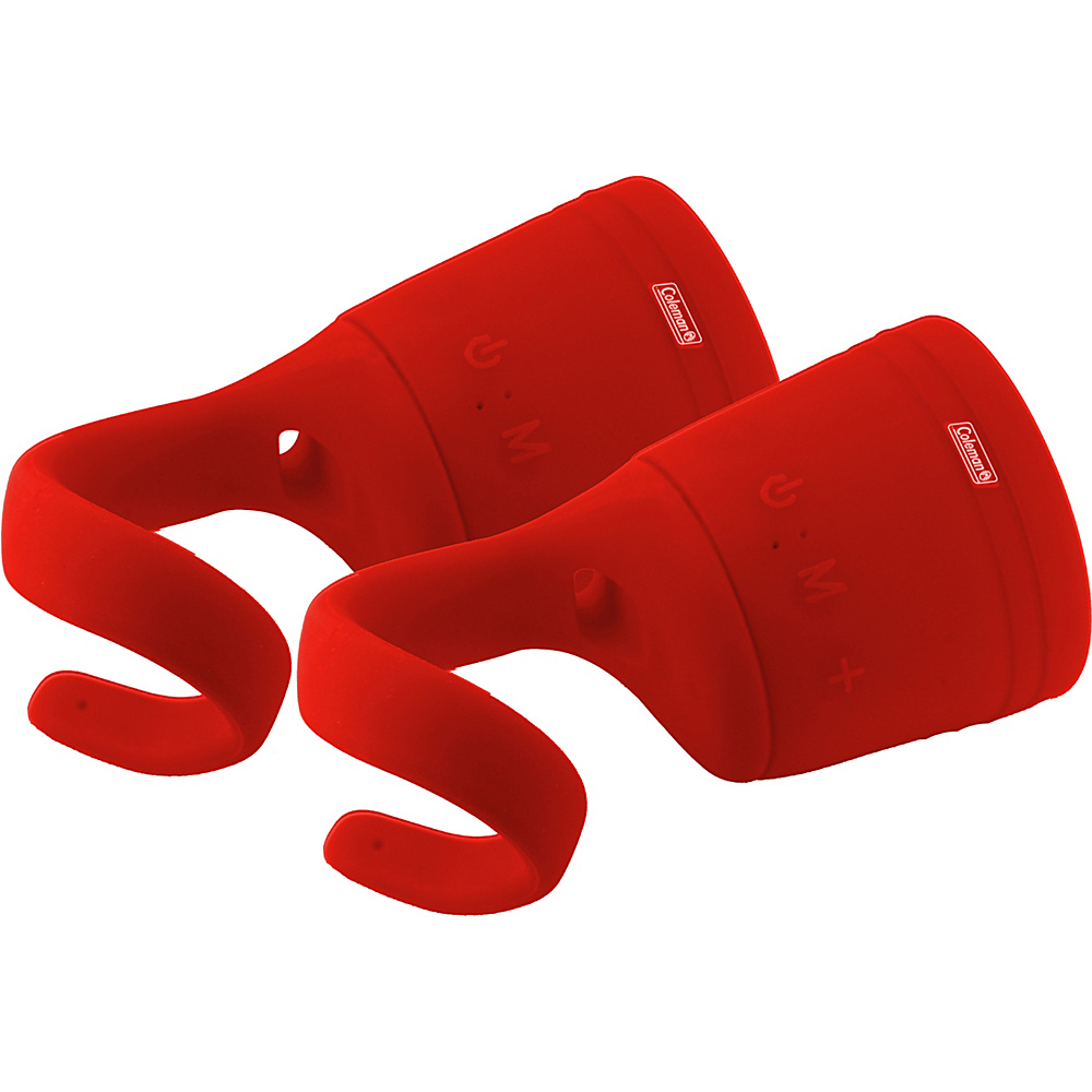Coleman True Wireless Stereo Link Water Resistant Bluetooth Speaker Two Pack Red Coleman Headphones Speakers