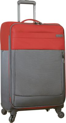 Nautica Harpswell 24 inch Expandable Spinner Red - Nautica Softside Checked