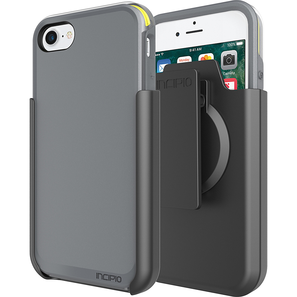 Incipio Performance Series Ultra (with holster) for iPhone 7 Charcoal Gray/Yellow(CGY) - Incipio Electronic Cases - Technology, Electronic Cases