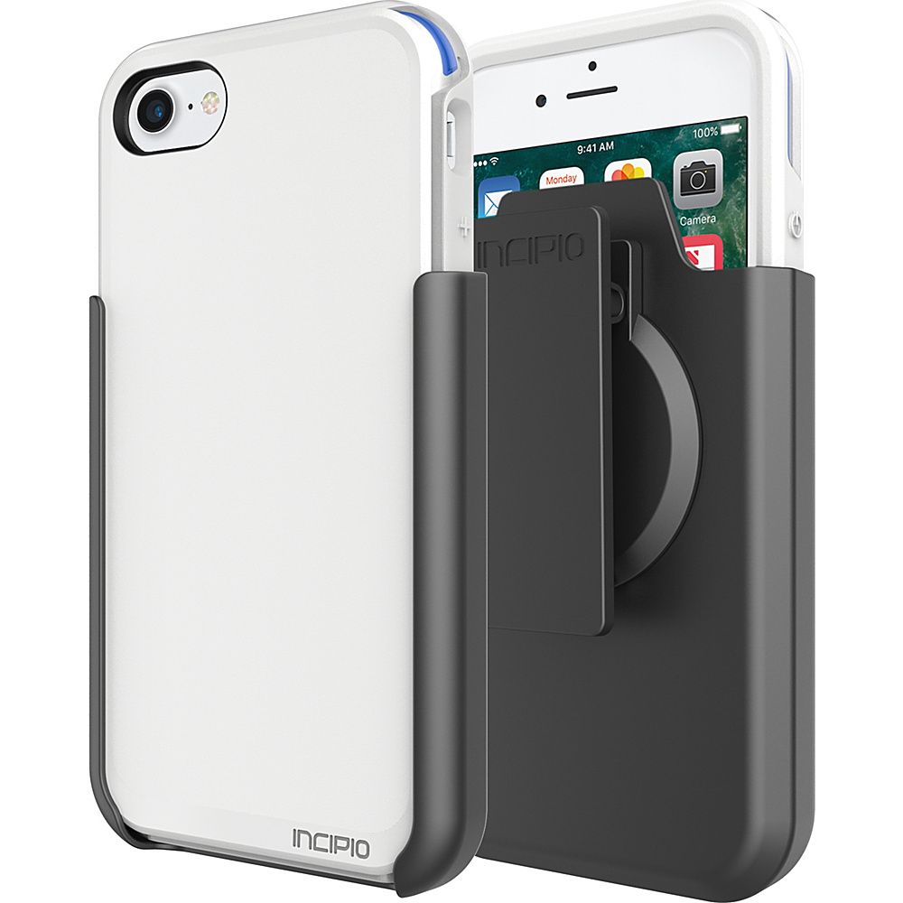 Incipio Performance Series Ultra (with holster) for iPhone 7 White/Blue(WBL) - Incipio Electronic Cases - Technology, Electronic Cases