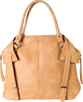 Diophy PU Leather Tote Diaper Bag with Baby Changing Pad and Bottle Insulation Taupe - Diophy Manmade Handbags