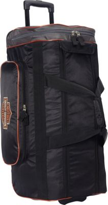 Harley Davidson by Athalon 29 inch Wheeled Travel Duffel Black - Harley Davidson by Athalon Softside Carry-On