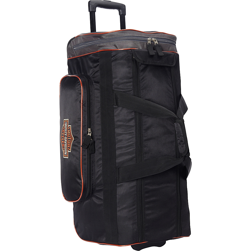 Harley Davidson by Athalon 29 Wheeled Travel Duffel Black Harley Davidson by Athalon Softside Carry On