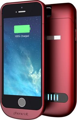 PhoneSuit Elite Battery + Case for iPhone 5/5S Red - PhoneSuit Electronic Cases
