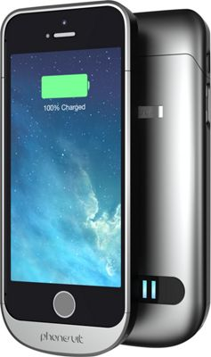PhoneSuit Elite Battery + Case for iPhone 5/5S Silver - PhoneSuit Electronic Cases