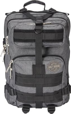 Harley Davidson by Athalon Harley Davidson Molle Backpack/Tandem Grey/Black - Harley Davidson by Athalon Business & Laptop Backpacks