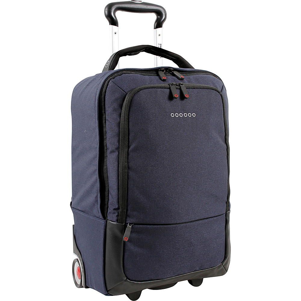 J World New York Sway Laptop Rolling Backpack Navy - J World New York Rolling Backpacks - Backpacks, Rolling Backpacks